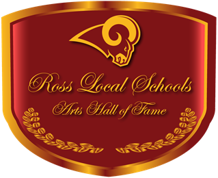 Maroon and Gold Image Crest for Ross Arts Hall of Fame