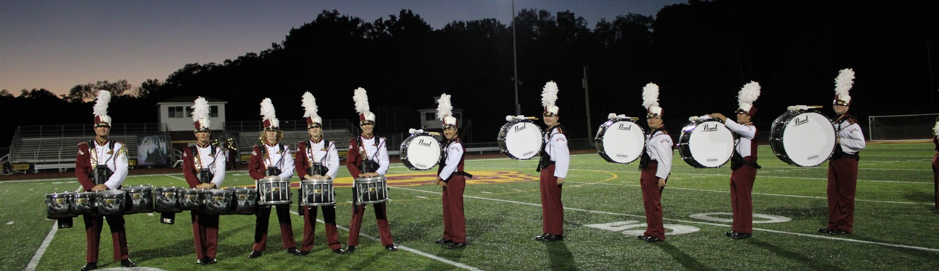 Ross HIgh School Marching Band Drum Line.