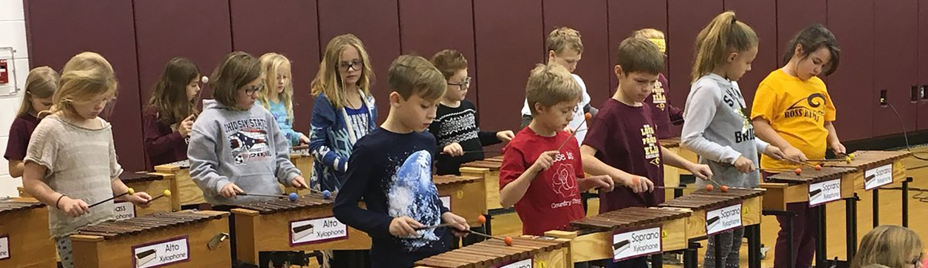 Elda Students Playing Xylophones.