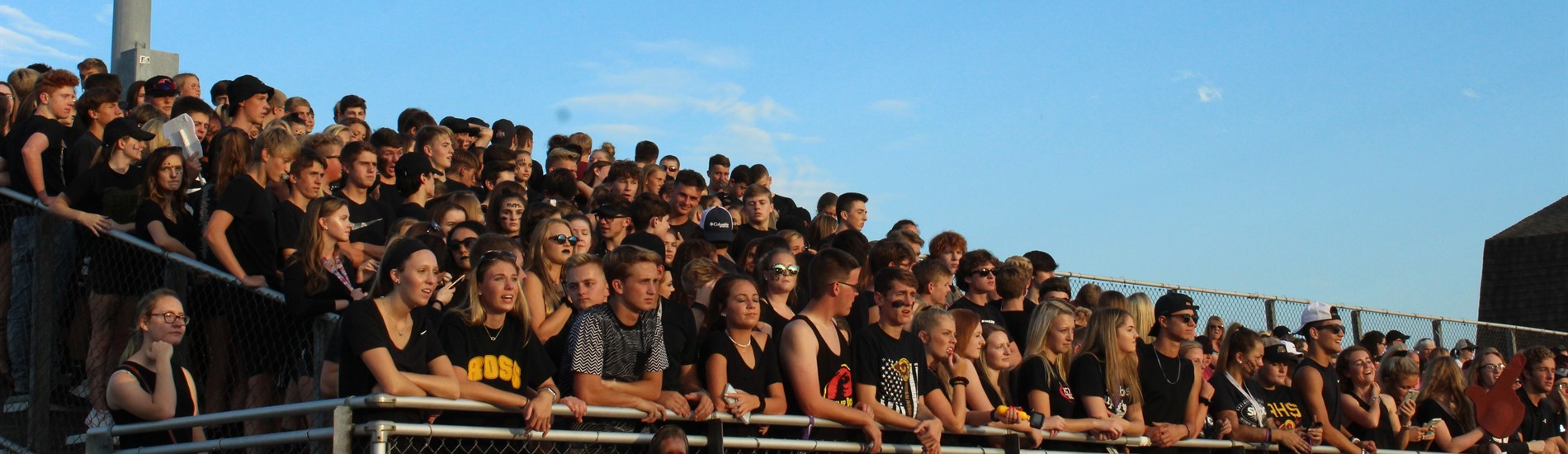 The Herd student body at the homecoming football game.